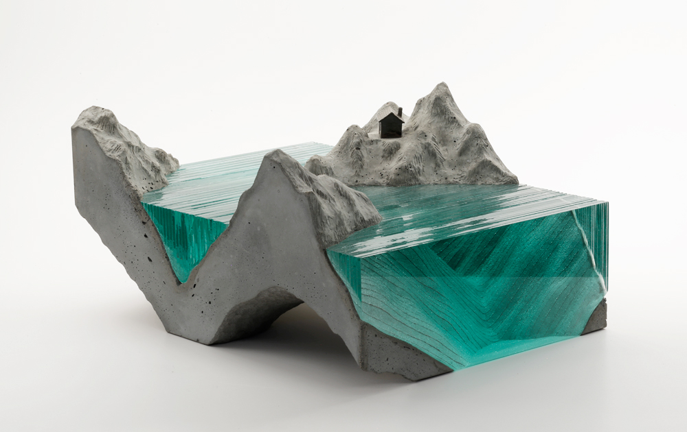 Your newer pieces, Arctic I and II use a deeper blue glass then the greenish glass you've used previ