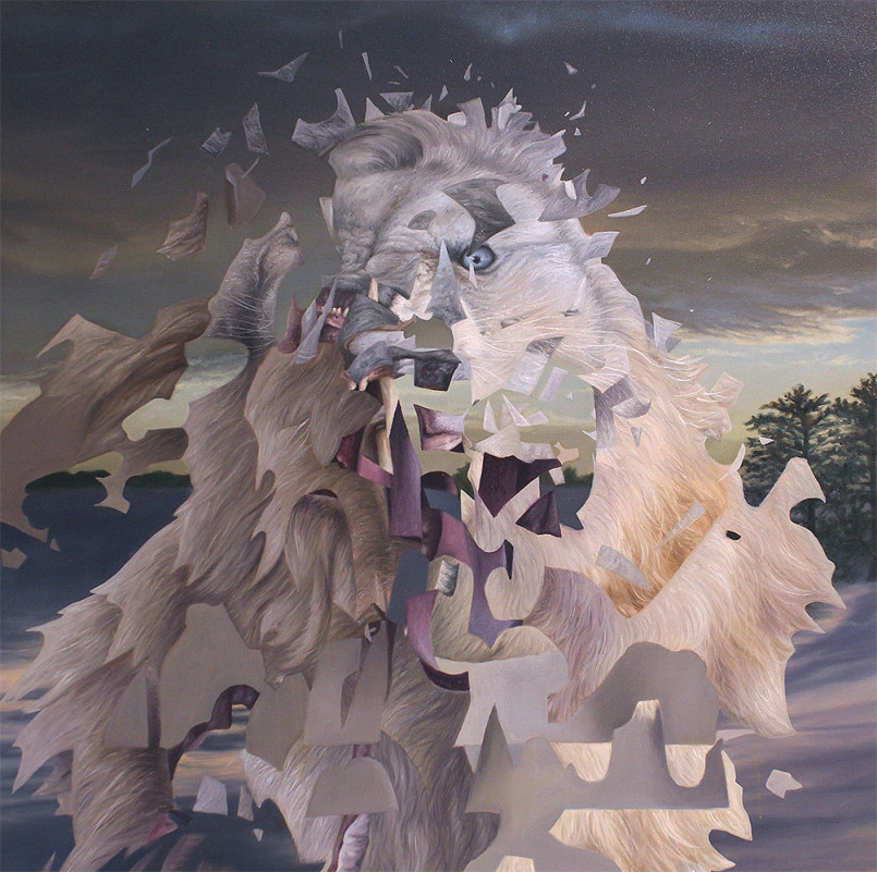 Shattered Animal Paintings by Angela Gram