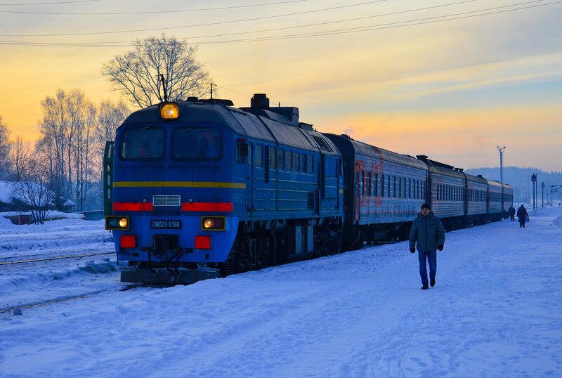 Станция Юрья и ее окрестности 21 февраля