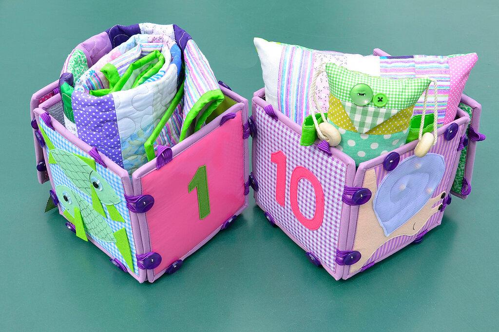 кубики покрывало подушка комплект в детскую салатовый сиреневый (6).JPG