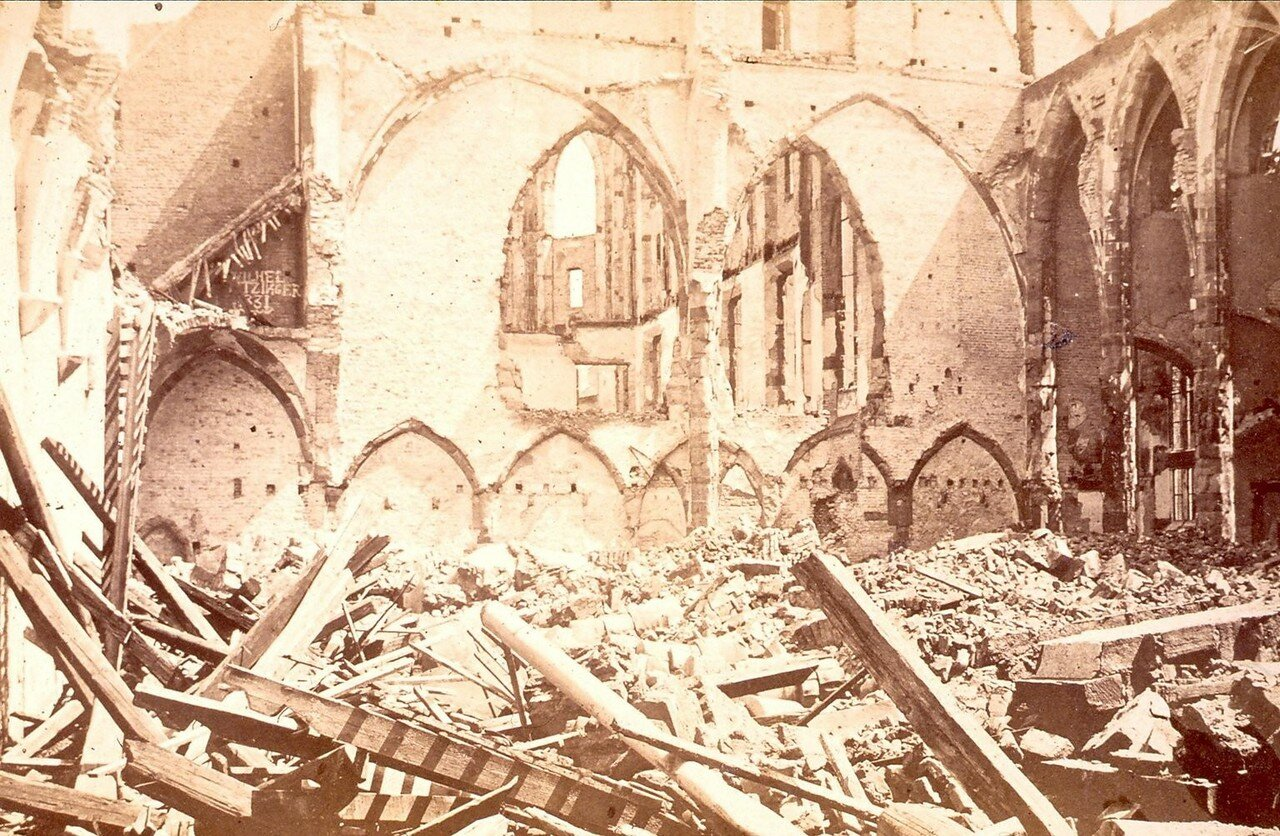 Новый храм. Разрушения
