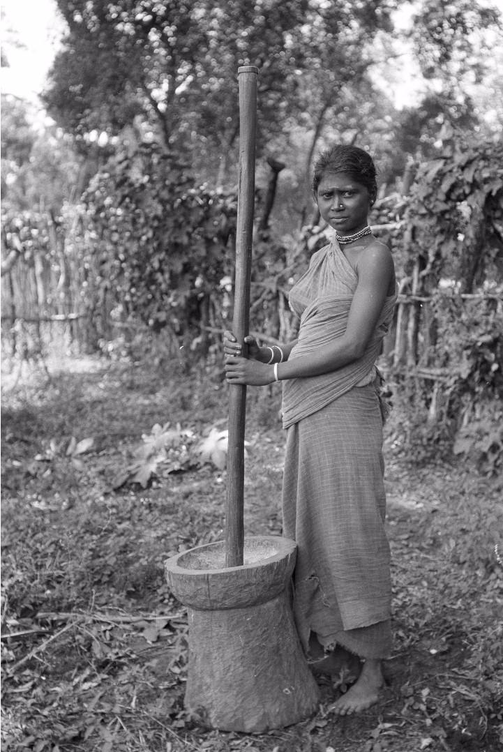 291. Женщина из прибрежных веддов толчет кукурузу в ступке