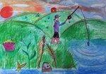 Титовец Алексей (рук. Губайдуллина Надежда Робертовна) - На рыбалке
