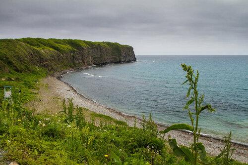 Вид на пляж с западной стороны.