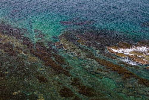 Цвет воды и рельеф дна завораживает