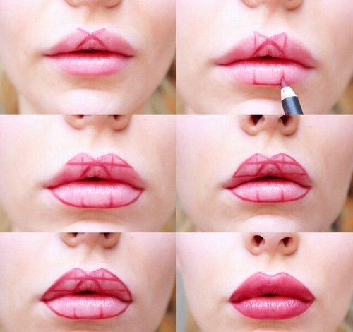 Как губы сделать красивые в домашних условиях