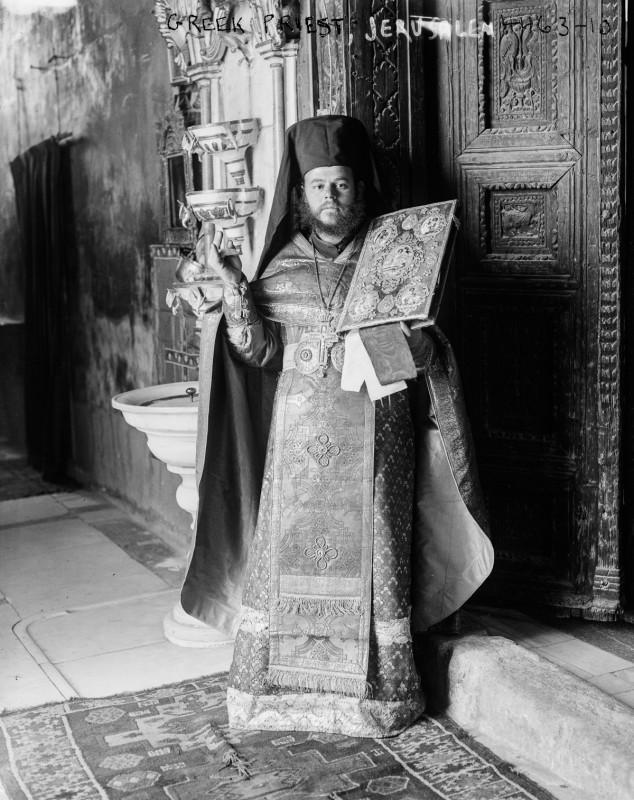 1915 год. Греческий православный священник.