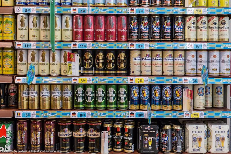 10. Пиво от китайского до немецкого. Кстати, почти все китайское пиво идет с пониженным содержанием