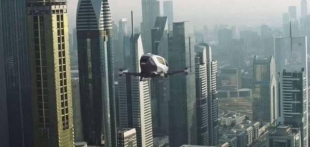 Первый дрон Ehang-184, способный перевозить на своем борту пассажиров (4 фото)