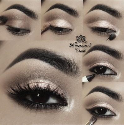 Фотоуроки макияжа карих глаз
