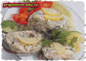 Рыбный паштет из копченой рыбы