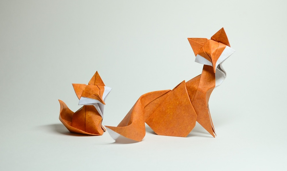 Wet Fold Origami Technique Gives Wavy Personality to Paper Animals by Artist Hoang Tien Quyet (11 pics)