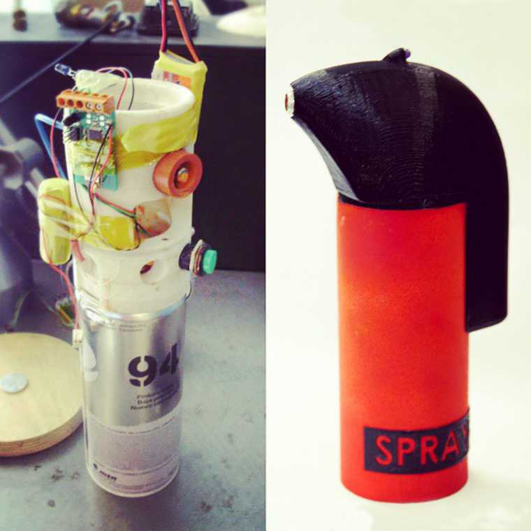 SprayPrinter - This gadget will turn spray paint cans into a mural printer