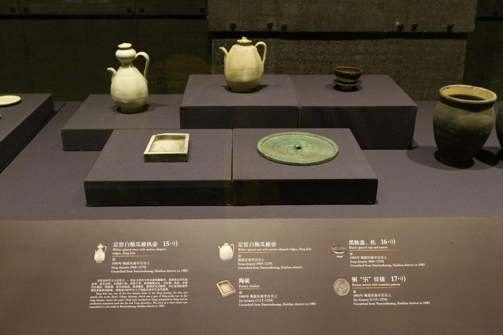 Чайники, тушечница, зеркало, сосуд, Музей района Хайдянь