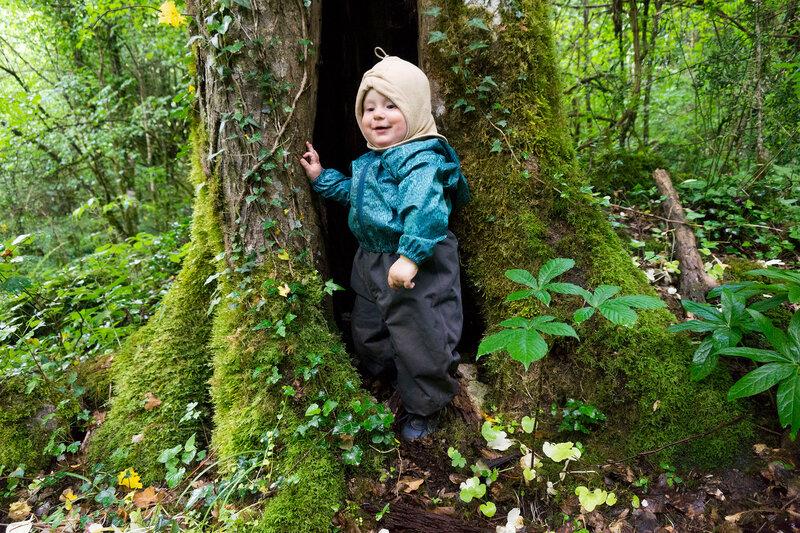 ребенок в дупле дерева