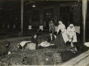 1914. Северный вокзал. Комната для хранения багажа превратилась в больничную палату. 28.09