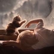 Мальчик и котенок