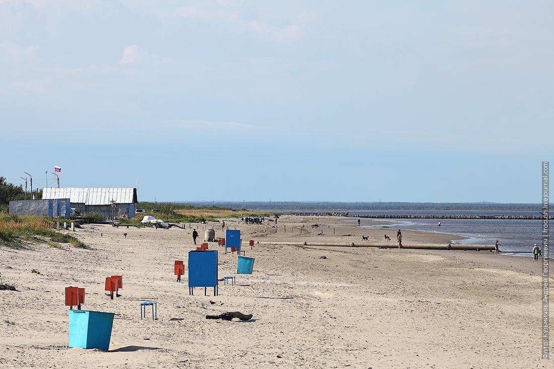 пляж Северодвинска