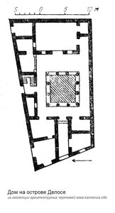 Жилой дом на острове Делос, план