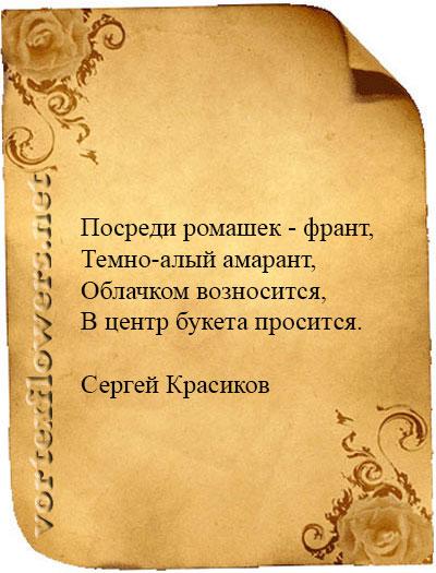 стихи об амарнте