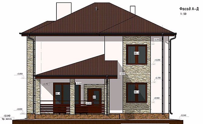 проект дома, фасад