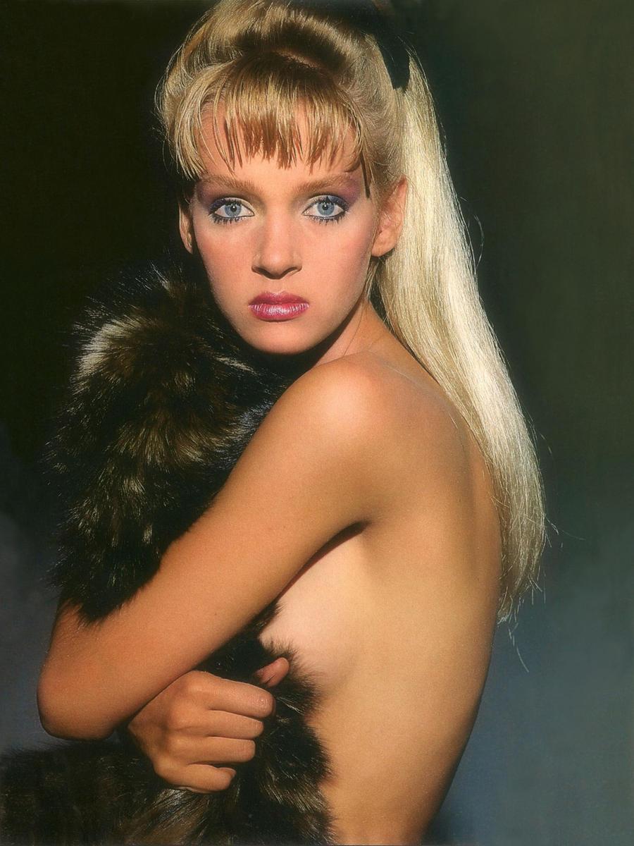 27.1985 год. Ума Турман для журнала Vogue.
