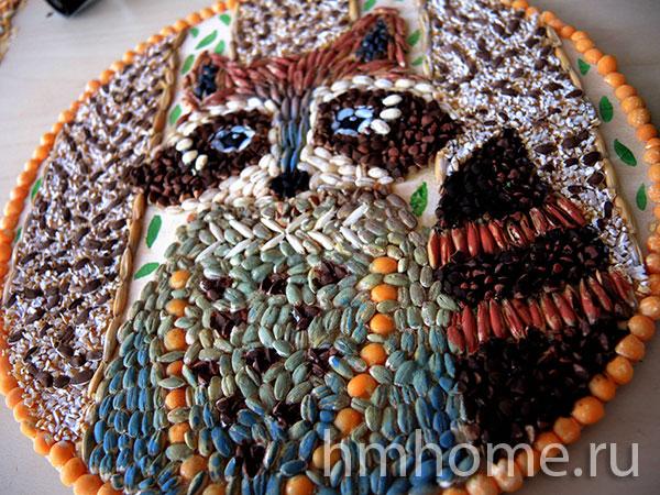 Декоративное панно из круп