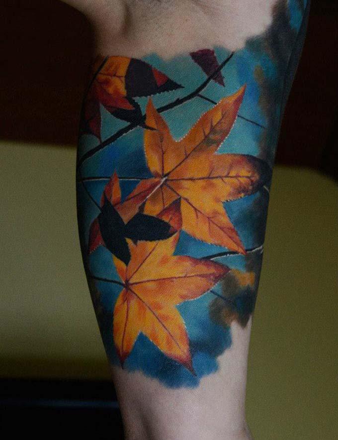 Tatuagens com cores vibrantes!