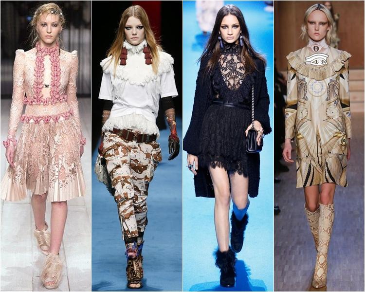 викторианский стиль, мода осень-зима 2016-2017