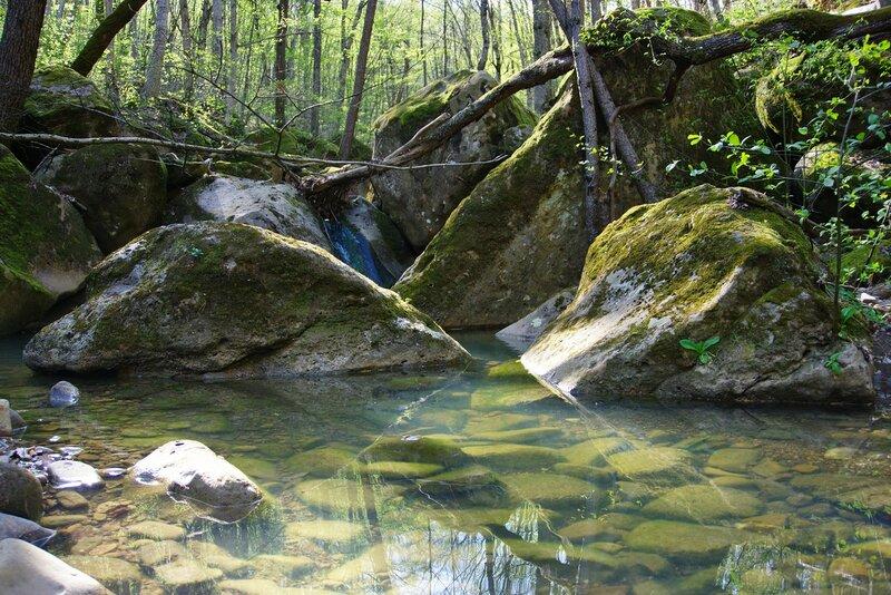 Ручей за планченскими скалами