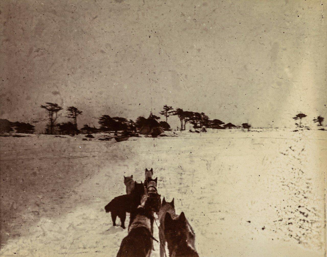 Вид деревни орочей в зимний период