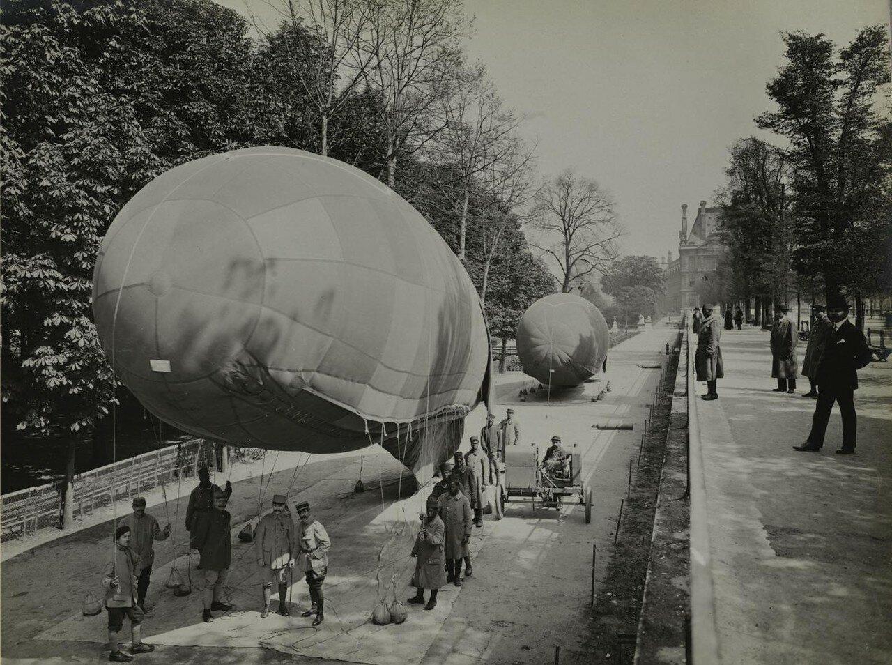 1918. Аэростаты в саду Тюильри. Ноябрь
