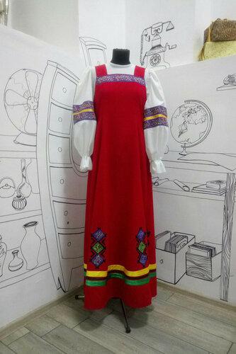 Женский карнавальный костюм Сарафан с орнаментом