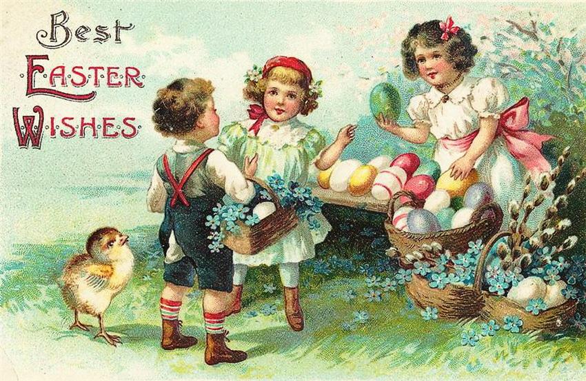 Красивые открытки и поздравления с пасхой на немецком, утро картинки красивые
