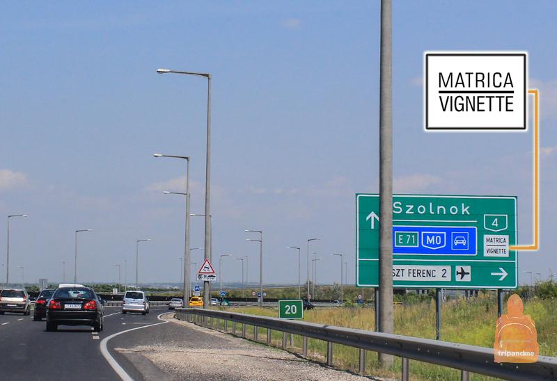 Обозначение платной дороги в Венгрии