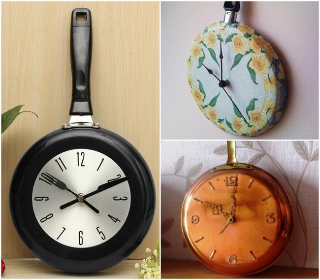 12. Посмотрите, какие крутые часы можно сделать изненужной сковороды.
