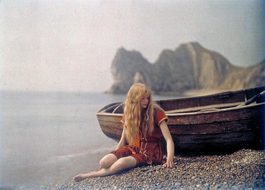 Белокурая красавица на автохромных снимках 1913-го года