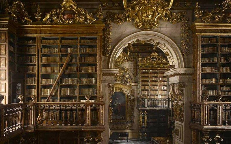 Библиотека Жуанина, Коимбра, Португалия.