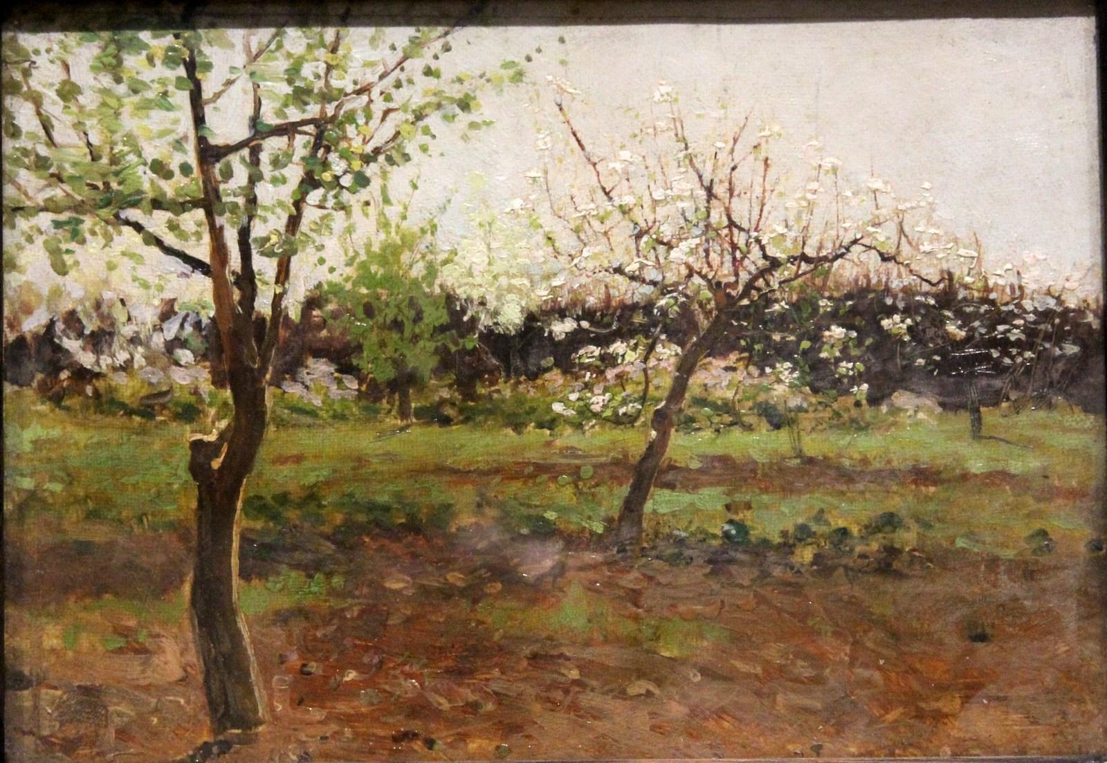 Левитан И.И. 1860-1900 Цветущие яблони. 1896 Холст, масло. Национальный художественный музей Республики Беларусь