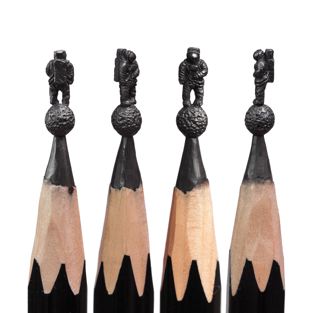 Delicate Pencil Lead Sculptures Carved by Salavat Fidai