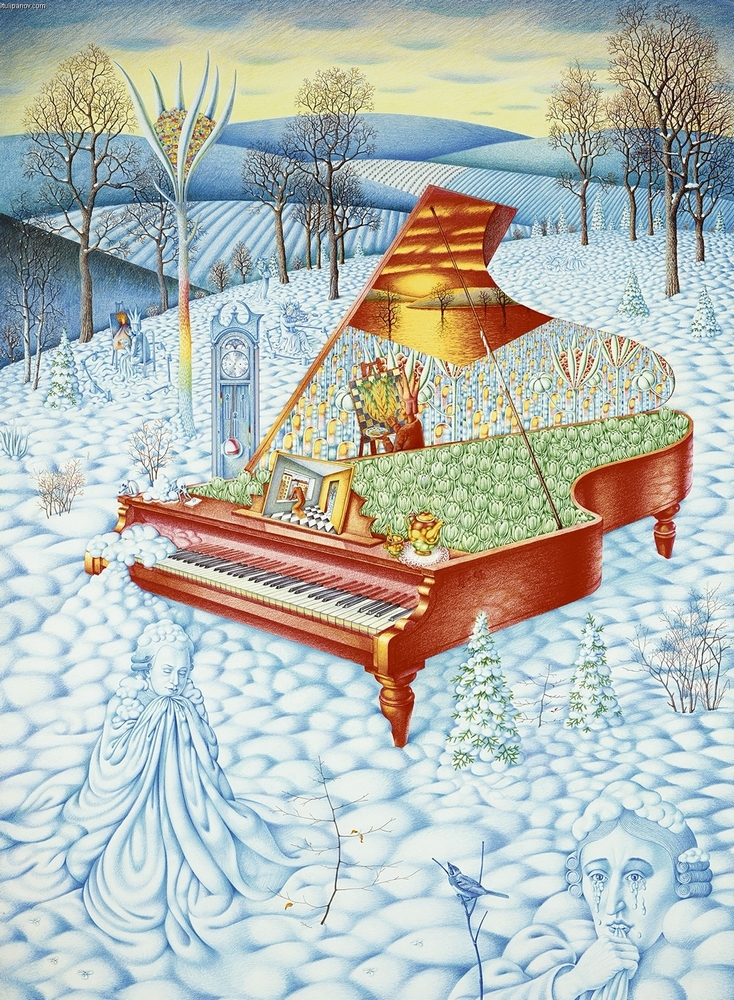 Forgiveness of Salieri - Red Piano in the Snow.jpg