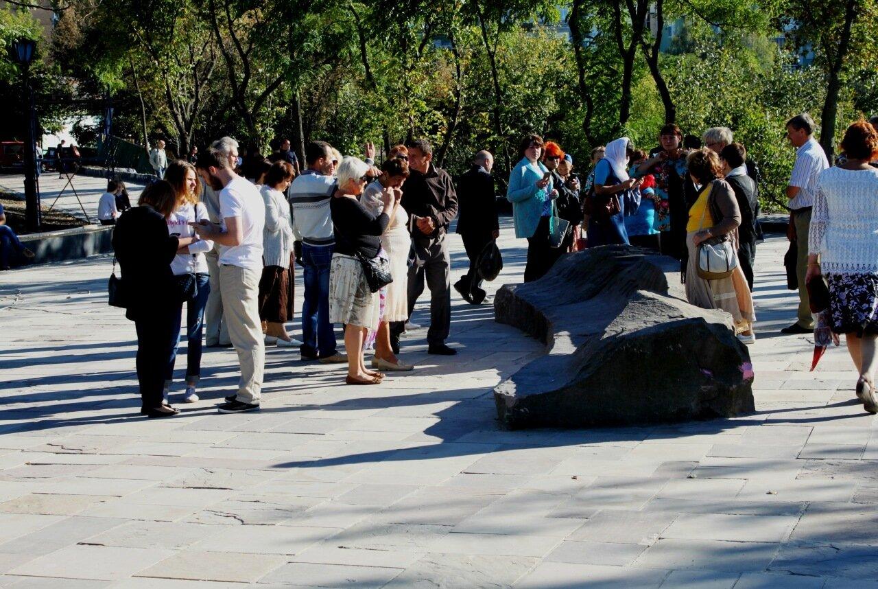 Туристы на Старокиевской горе