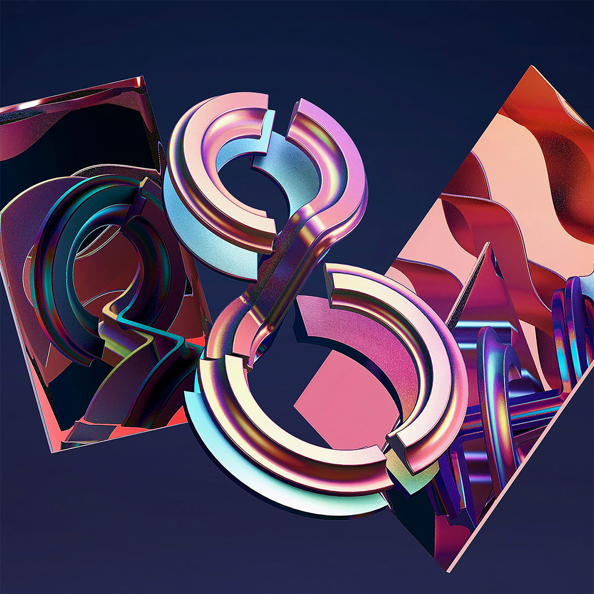Striking 3D Typography by BURO UFHO