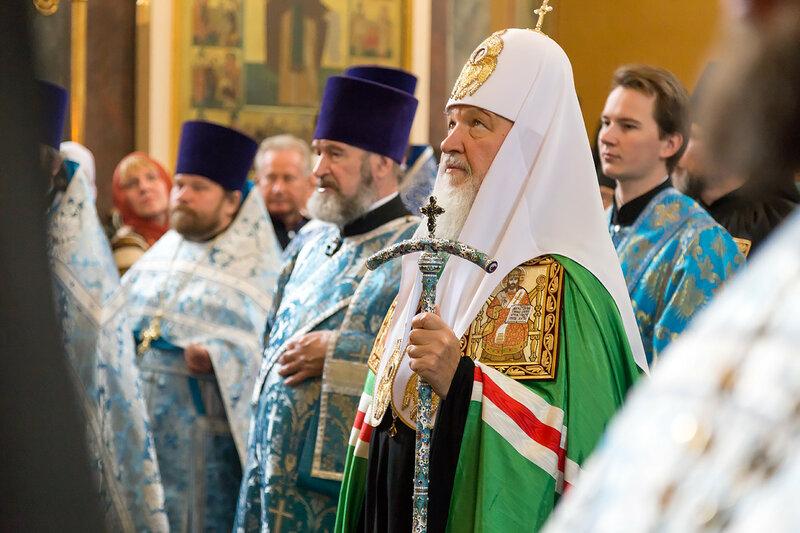 Служба Патриарха Кирилла