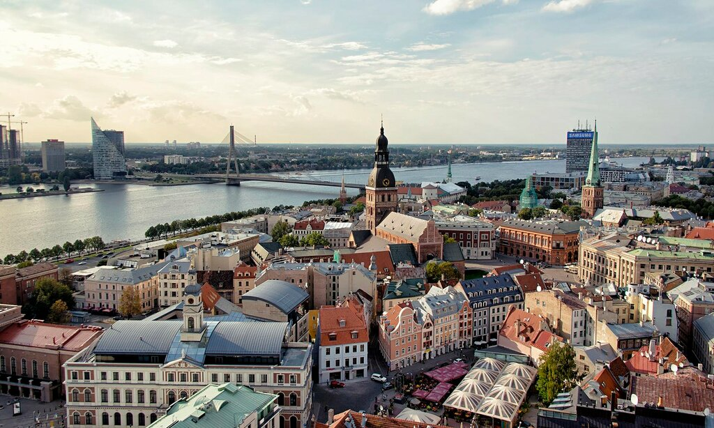 Sunlight over Riga, Latvia