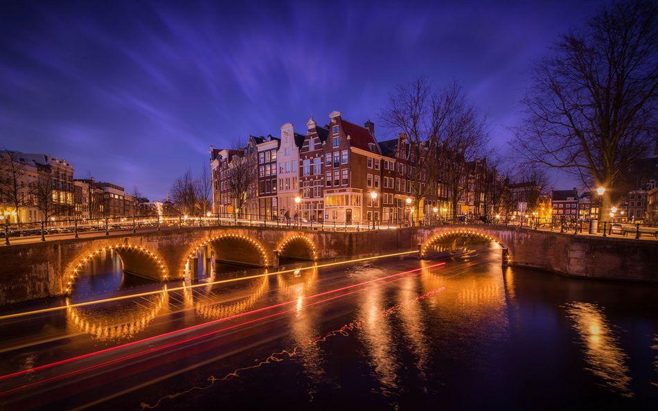 Нидерланды, Амстердам, городской пейзаж
