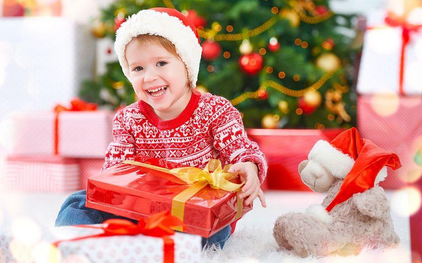 Новый год, подарки, дети, фото