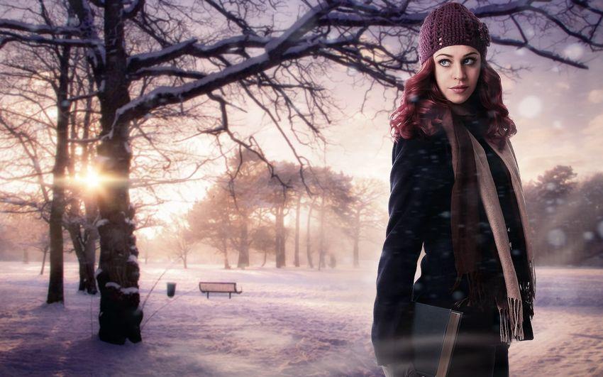 Новый год, девушка зима