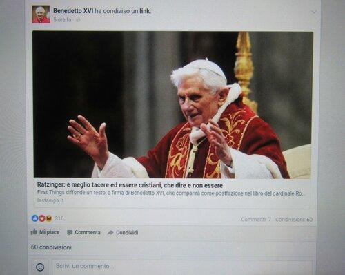 Папа Бенедетто 16.