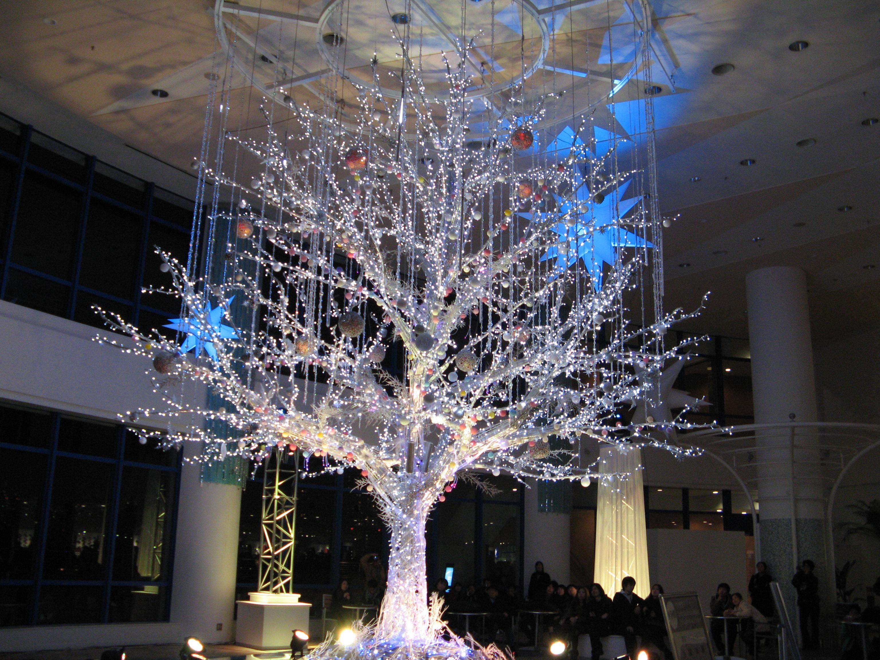 Япония. Новогодний Одайба - остров развлечений в Токийском заливе.